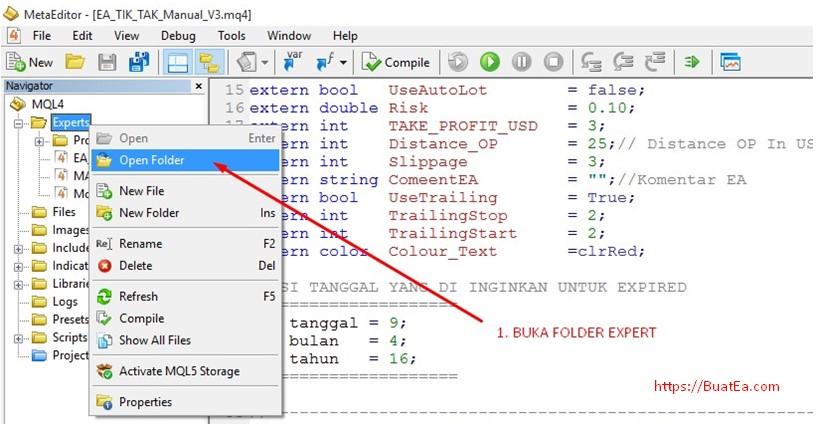 Cara membuat ea dengan forex generator